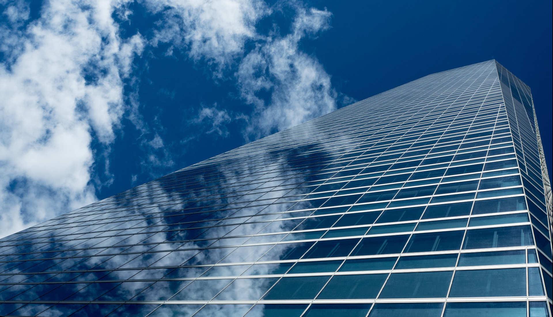 Vista edificio de negocios Madrid